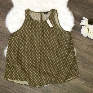 💯 % Olive Green Sleeveless Top